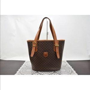 Auth CELINE Hand Bag  Browns Macadam..Gorgeous